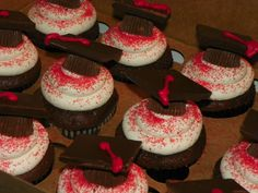 High School Graduation Cakes | Plumeria Cake Studio: Graduation Cupcakes