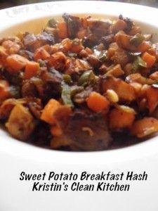 Sweet Potato Breakfast Hash #paleo #cleaneating