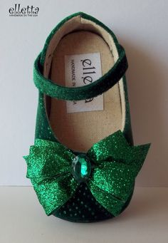 """Baby and toddler shoes - handmade baby/toddler - available in sizes 1-13 """"Esmerelda"""". $40.00, via Etsy."""