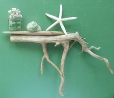 Shelf  Wood Driftwood Jewelry Holder 28 inches by DivineDriftwood, $54.90
