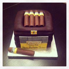 Cohiba Cigar cake ~ contessascakes.weebly.com