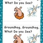 """Students complete this fun rhyming book utilizing their phonetic spelling skills. The story follows the Eric Carle  """"Brown Bear"""" format while stude... groundhog"""