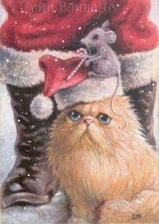 christma view, bonnett santa, santa helper, christma art, lynn bonnett
