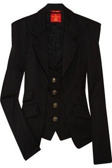 Vivienne Westwood Red Label Stretch wool-twill blazer NET-A-PORTER.COM - StyleSays