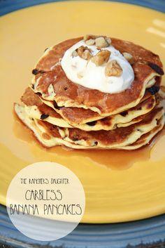 Banana Pancakes. Carbless and GF!
