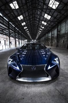 ♂ Blue Lexus concept car