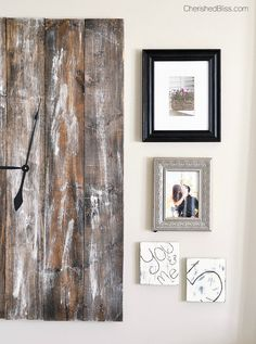 Turn old wood into a rustic DIY clock to hang as a functional piece of art in your home.