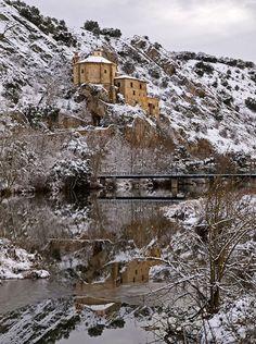 esto no es Suecia es SORIA, rio Duero y ermita de San Saturio