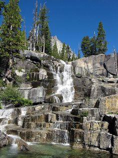 Canyon Creek waterfall, Trinity Alps, California, by Uncle Kick-Kick