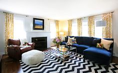 | Copy Cat Chic | chic for cheap: Copycat Chic Room Redo I Bold Twist on Traditional Living Room
