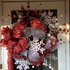 Snowflake wreath I made :)