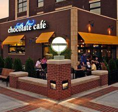 bend chocol, chocol cafe, locat downtown, cafe locat, againin indiana