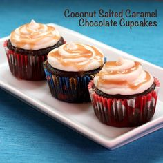 Coconut Salted Caramel Chocolate Cupcakes