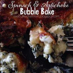 Spinach Artichoke Bubble Bake