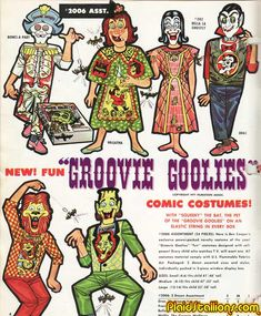 The Big get for 1973, Filmation's Groovy Goolies were just screaming to be made inot Halloween Costumes and Ben Cooper did the whole cast!
