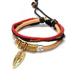 Bangle leather bracelet men bracelet women by jewelrybraceletcuff, $7.50