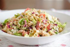 Salad Sundays: Portillo's Chopped Salad.....don't have a Portillo's where I live, but do like the cabbage, lettuce, and pasta....adapt it to suit yourself...however, bacon seems too tasty to leave out...just sayin'