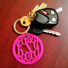 Love my acrylic monogram keychain!