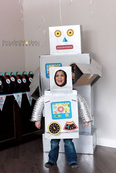 #DIY Robot costume & robots party inspiration