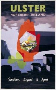 Ulster Northern Ireland Irish Travel Poster