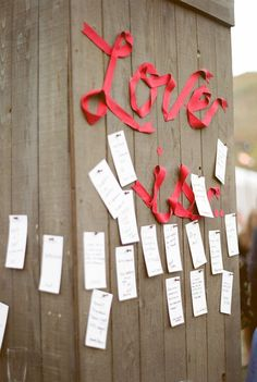 We just LOVE new creative ways to display love notes!!