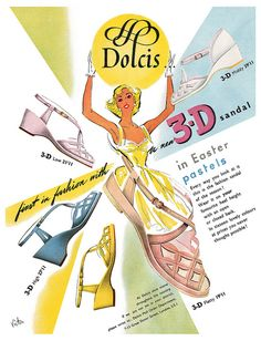 Dolcis Shoes ad from Woman's Own magazine, April 7, 1955.