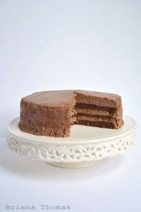 Fudgy Chocolate Layer Cake (Low-Carb, Sugar-Free, THM:S)