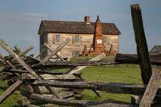 House and the Bull Run monument on the Manassas battlefield in Virginia