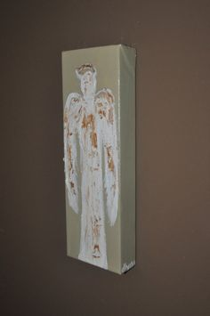 Acrylic Canvas Painting  Angels  4x12 Original Angel by dlynnart, $30.00