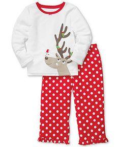 Carter's Baby Pajamas, Baby Girls 2-Piece Reindeer PJs