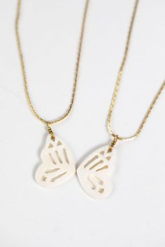 Featuring two matching butterfly wings, the Fly Together Necklace Pair is a sweet gift to share with your best friend. Handcrafted by artisans working with out fair trade partner Tara Projects. With new opportunities to earn sustainable income, artisans working with Tara Projects are transforming their lives and their communities.