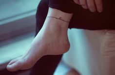 74 Of The Tiniest, Most Tasteful Tattoos Ever - When I have kids, a string of their names around my ankle. Very delicate font.