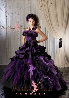 Purple Gothic Wedding Dress from WeddingDressFantasy.com