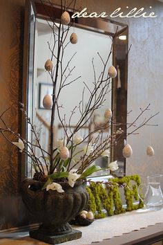 Easter table scape or centerpiece