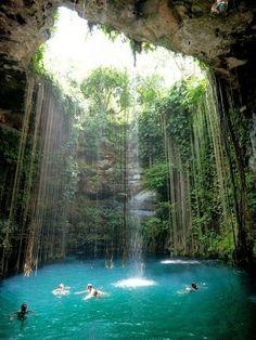 Beautiful Places World - Ik Kil Cenote- Yucatán, Mexico