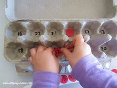 Learn with Play @ home: Egg Carton Maths. Toddlers to School Age