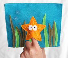 ocean finger puppets #homeschool #science #craft