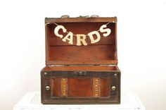 Wedding Card Trunk - Rustic Card Box - Vintage style trunk - travel and rustic style