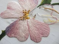 beauti embroideri, threadpaint, embroideri idea, longstich embroideri, stitch, silk shade