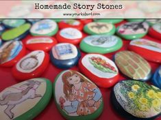 Homemade Story Stones - a beautiful way to tell a story.