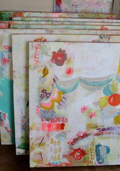 Paintings in progress   Pam Garrison