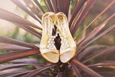 Gold bejeweled heels shot by PriscilaValentina.net