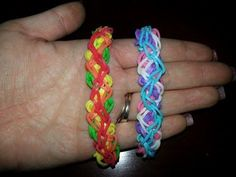 Rainbow Loom CRAZY AZEY CRISS CROSS Bracelet (reversible). Designed and loomed by Loves2Loom. Click photo for YouTube tutorial. 05/24/14.