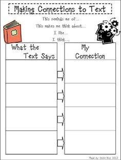 Mrs. Rios Teaches: Making Connections to Text Freebie