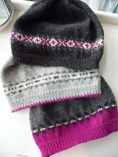 Fair Isle Fun with beanies :) love the color combos!.