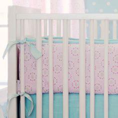 Daisy Dots Crib Bumper from PoshTots