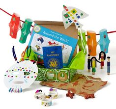 idea, cultur, boxes, gifts, green kid, educ, kids, kid crafts, country