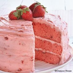 Gooseberry Patch Recipes: Easy Strawberry Layer Cake