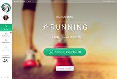 #App #UI #running #desing