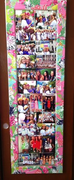 Lilly Agenda leftovers decorated mirror frame